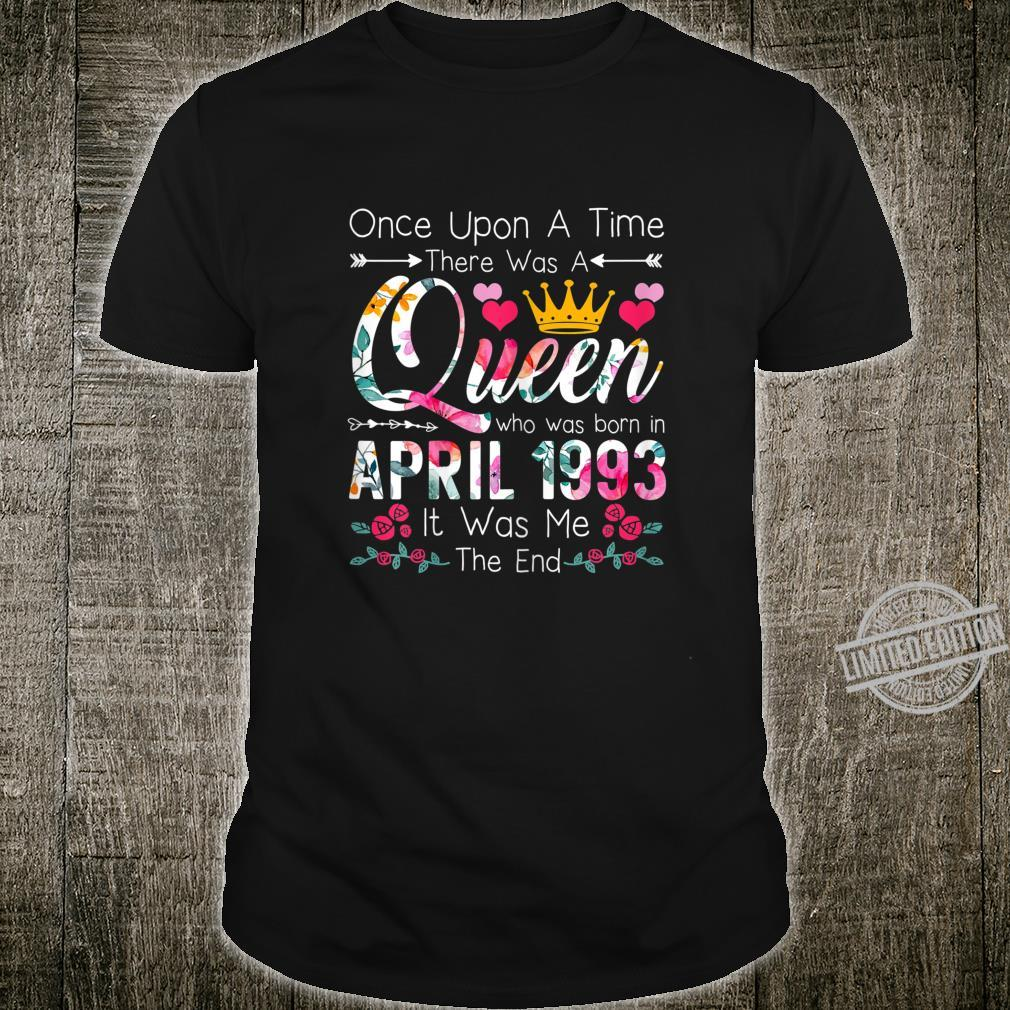 27 Year Old Birthday Girls 27th Birthday Queen April 1993 Shirt