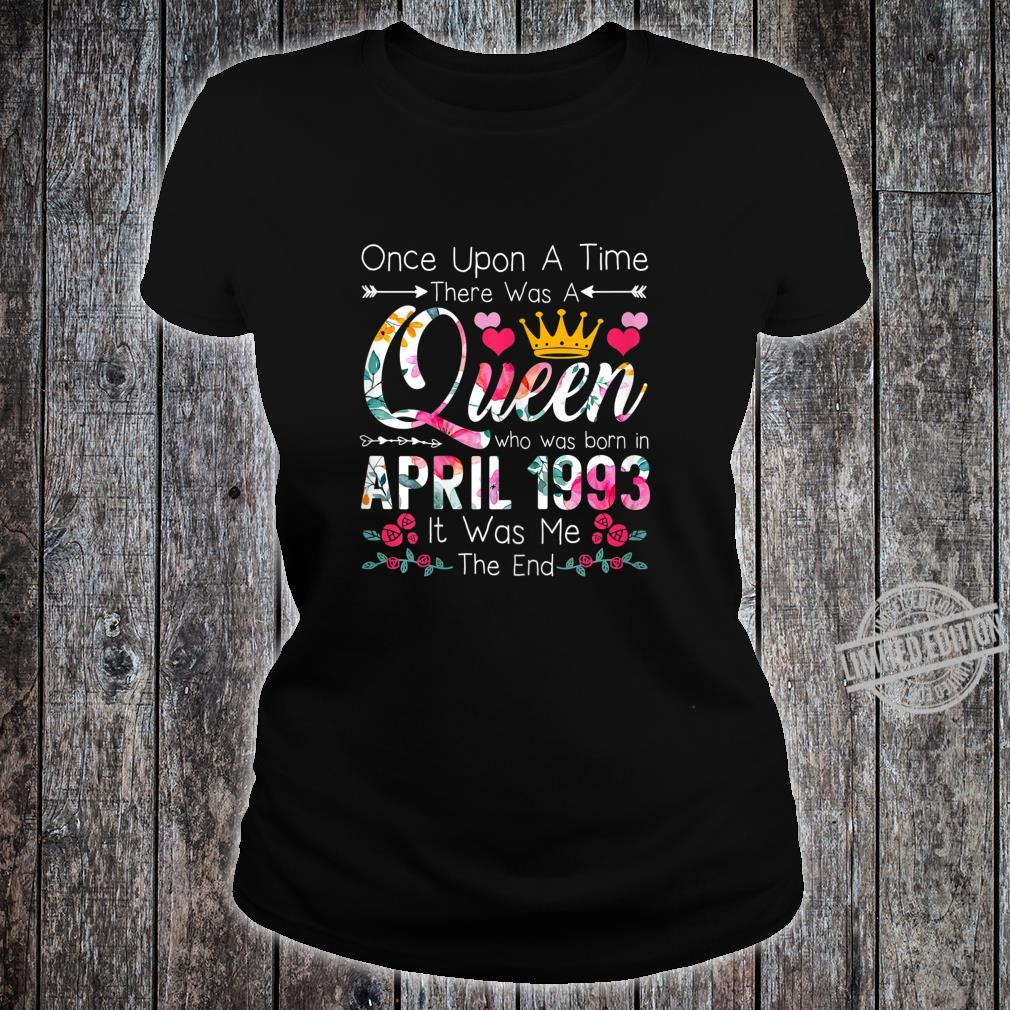 27 Year Old Birthday Girls 27th Birthday Queen April 1993 Shirt ladies tee