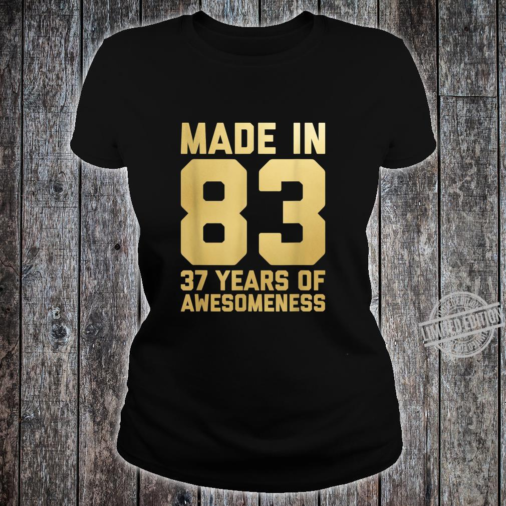 37th Birthday Shirt 37 Year Old for Her 1983 Shirt ladies tee
