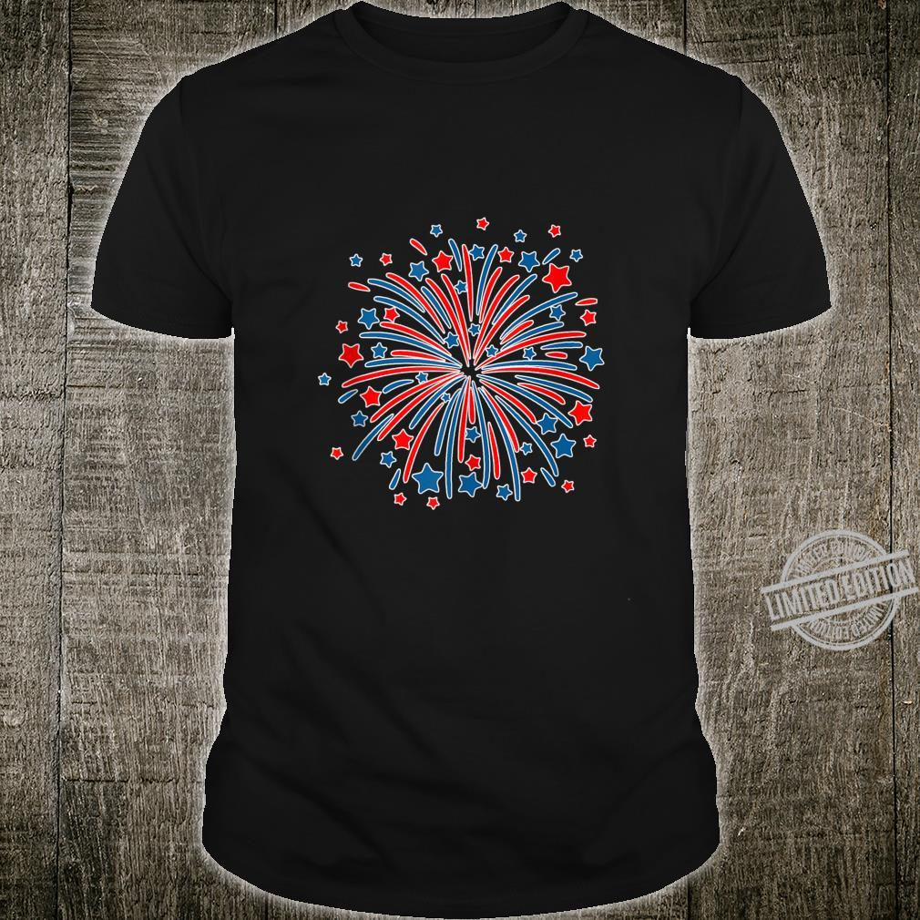 4th of July USA Fireworks Patriotic Shirt