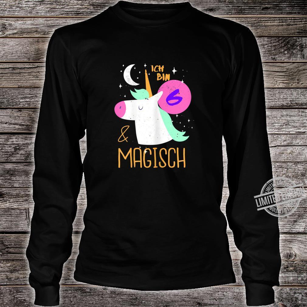 6 und Magisch 6. Geburtstag Mädchen Kindergeburtstag Einhorn Shirt long sleeved