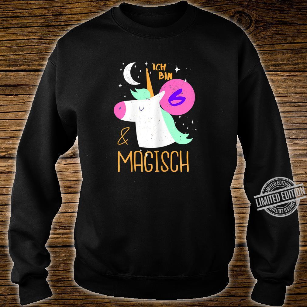 6 und Magisch 6. Geburtstag Mädchen Kindergeburtstag Einhorn Shirt sweater