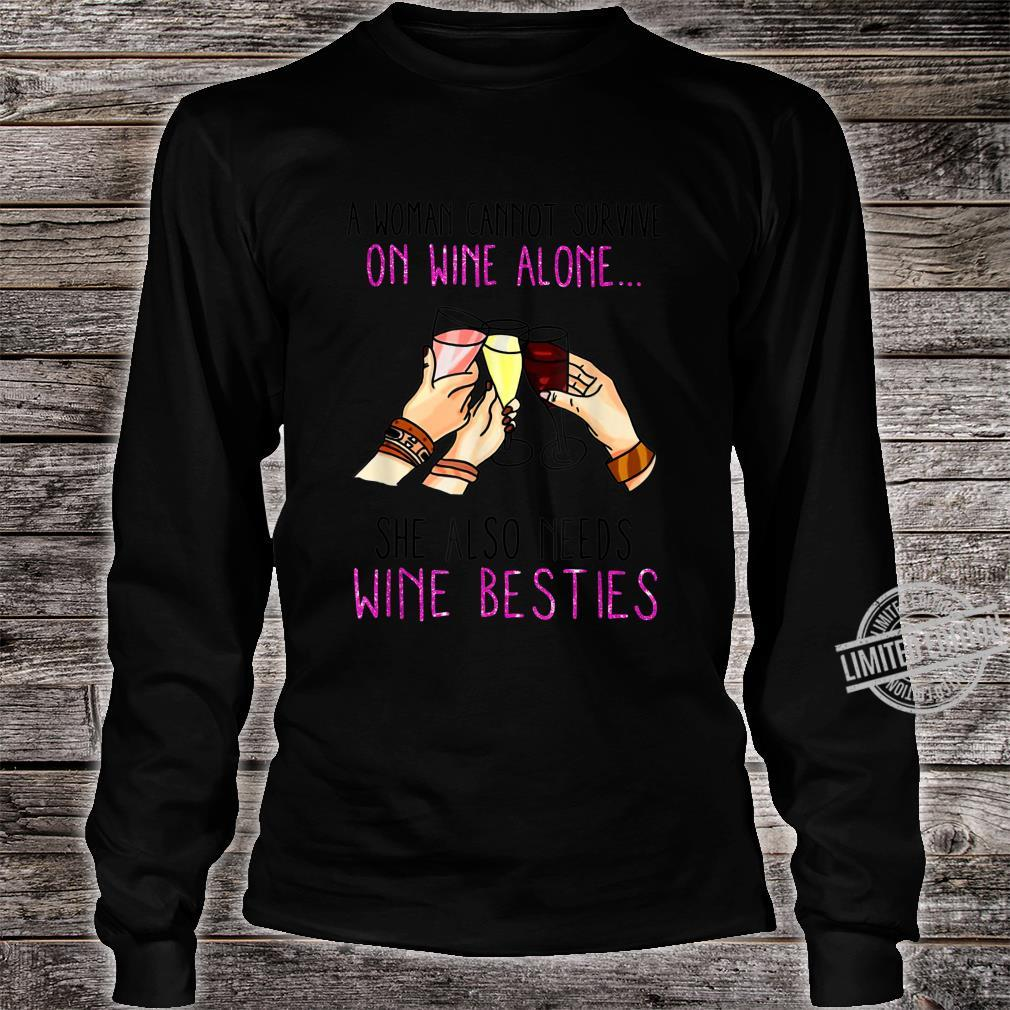 A Cannot Survive on Wine Alone Shirt long sleeved