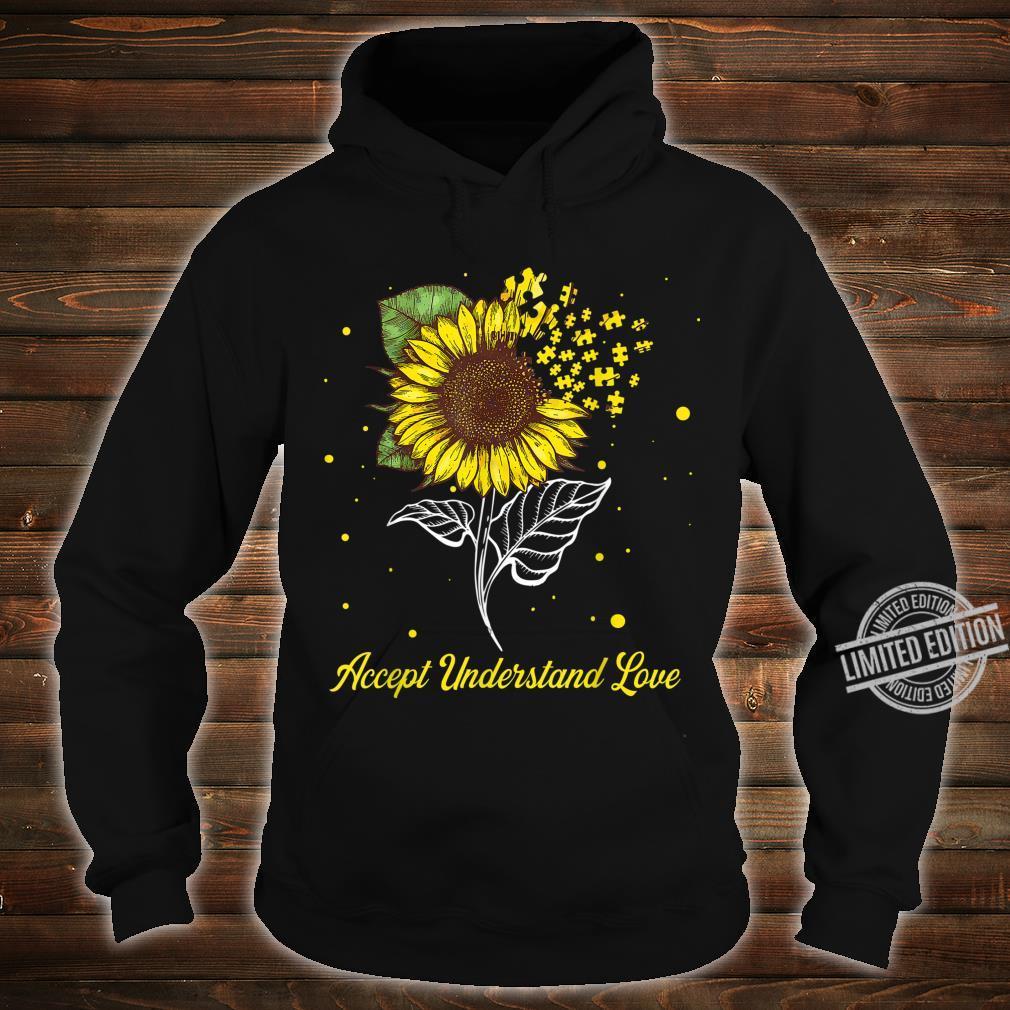 Accept Understand Love Sunflower Autism Awareness Shirt hoodie