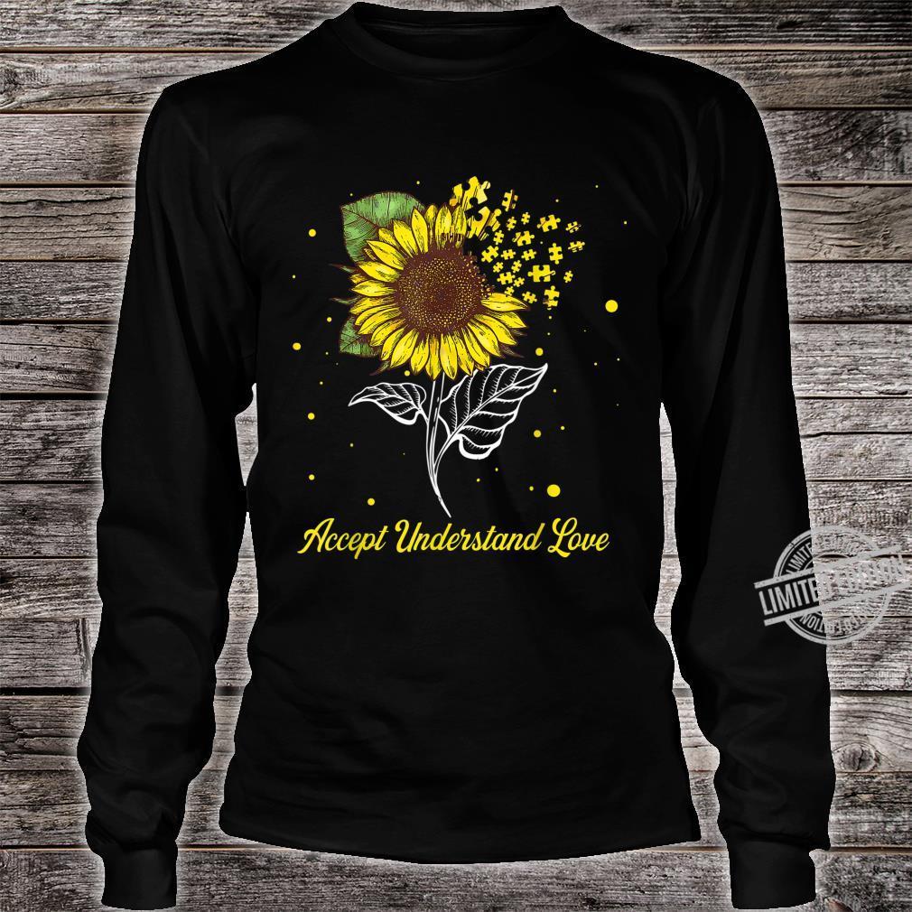 Accept Understand Love Sunflower Autism Awareness Shirt long sleeved