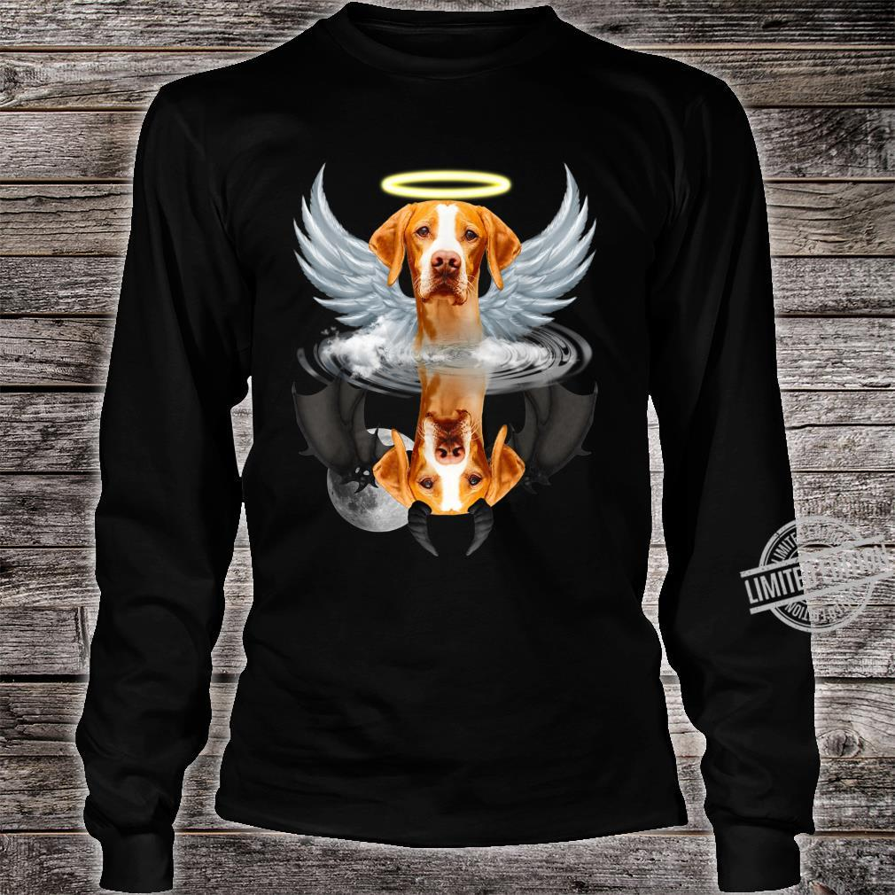 Angel English Pointer Shadow Under Water Devil Shirt long sleeved