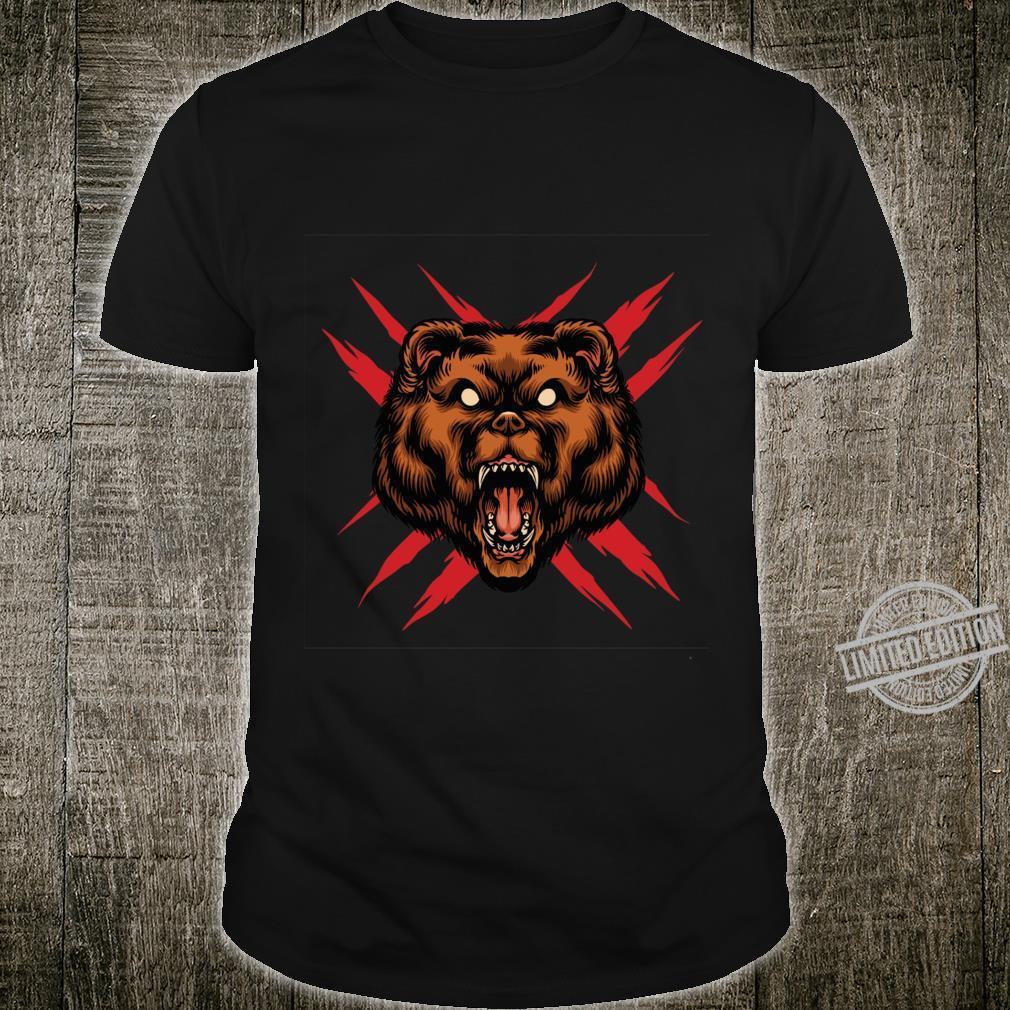 Angry brown bear Racerback Shirt