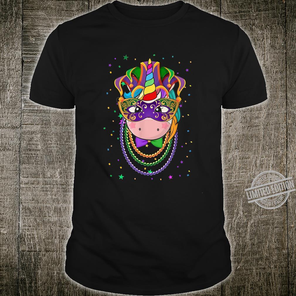 Animal Unicorn Masquerade Mardi Gras Shirt