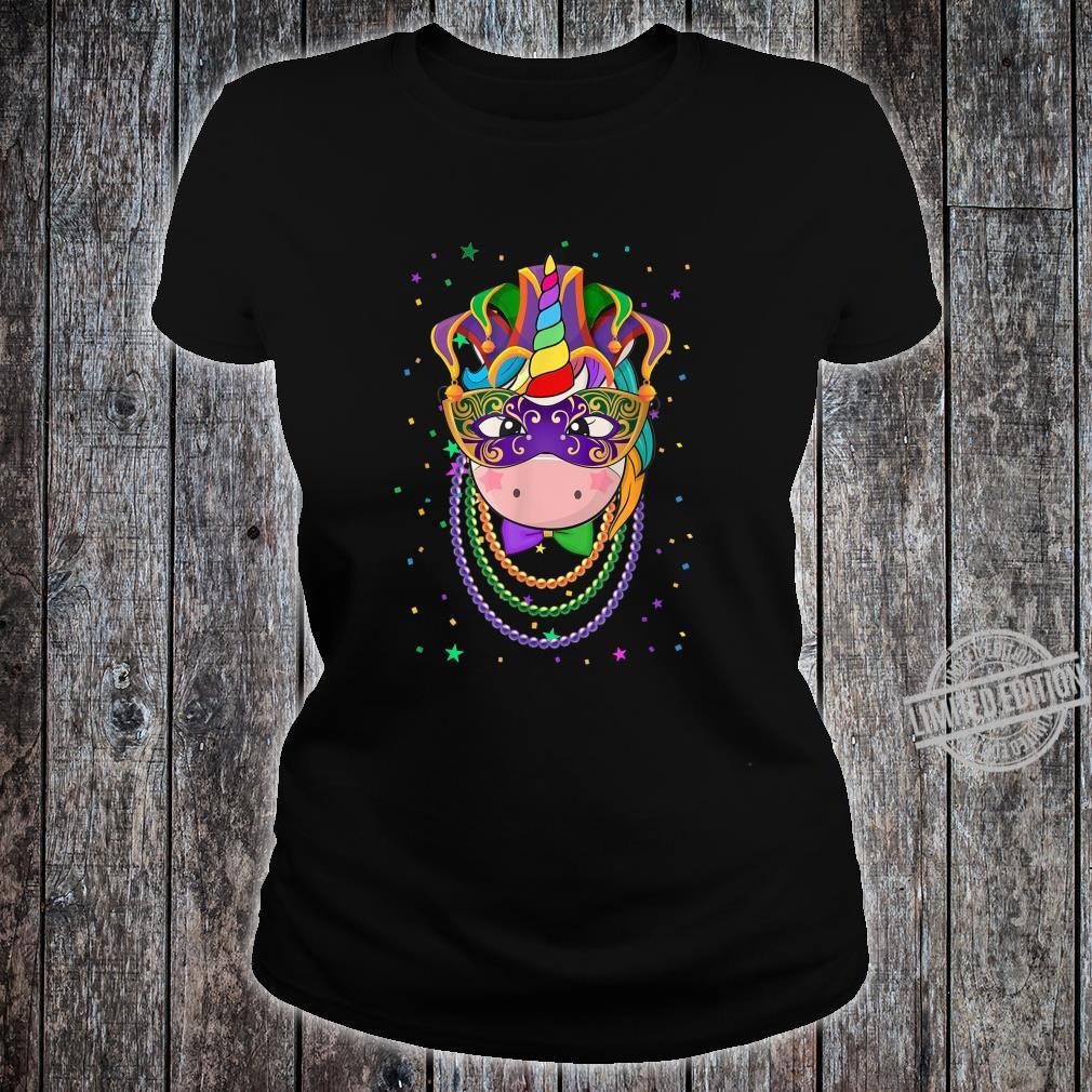 Animal Unicorn Masquerade Mardi Gras Shirt ladies tee