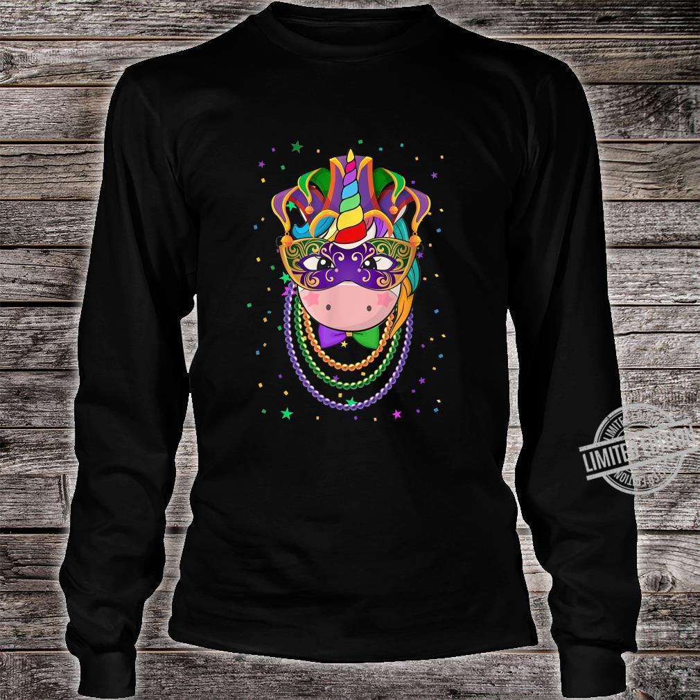 Animal Unicorn Masquerade Mardi Gras Shirt long sleeved