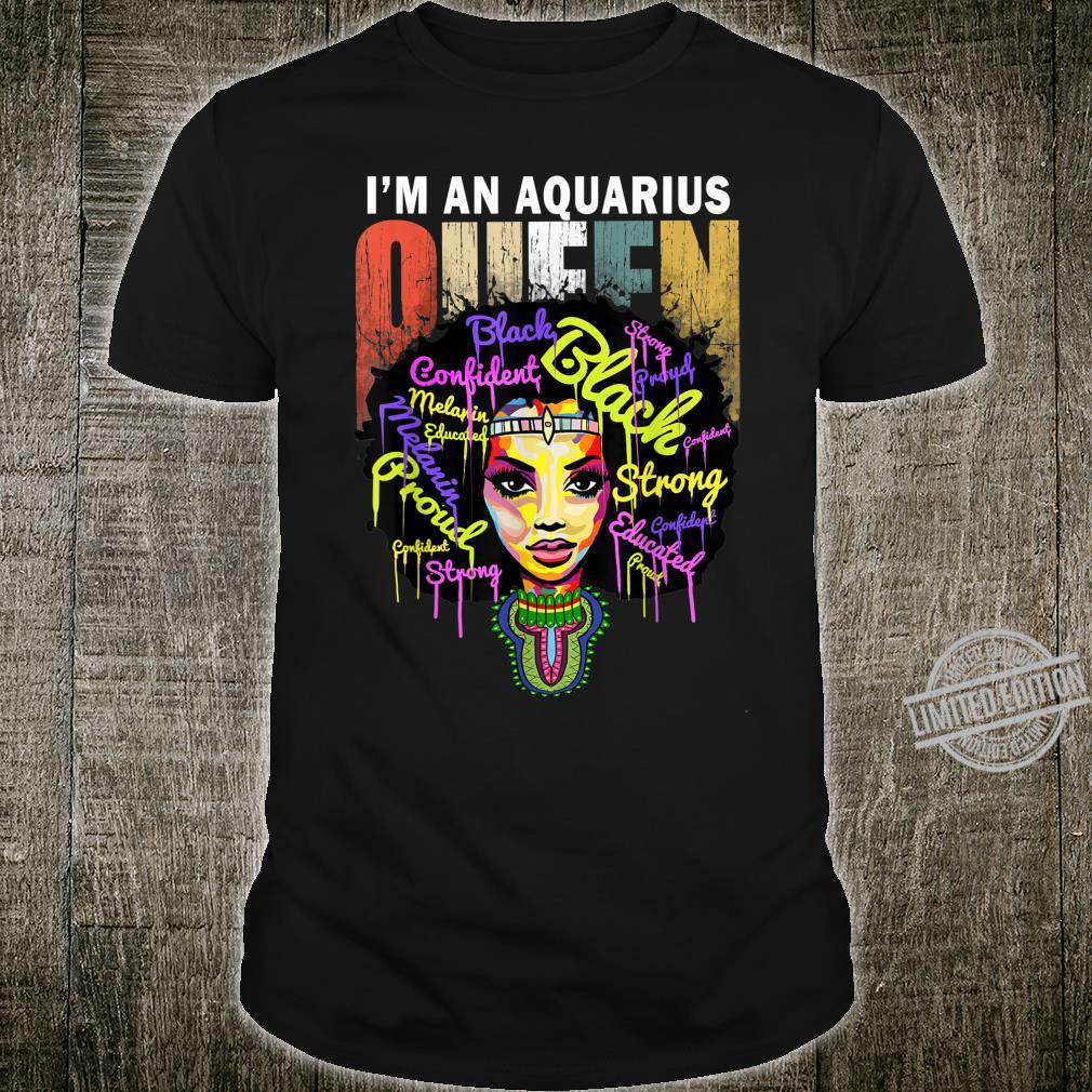 Aquarius Birthday January February Queen Shirt