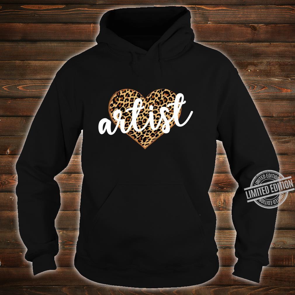 Artist Leopard Print Heart Cute Shirt hoodie