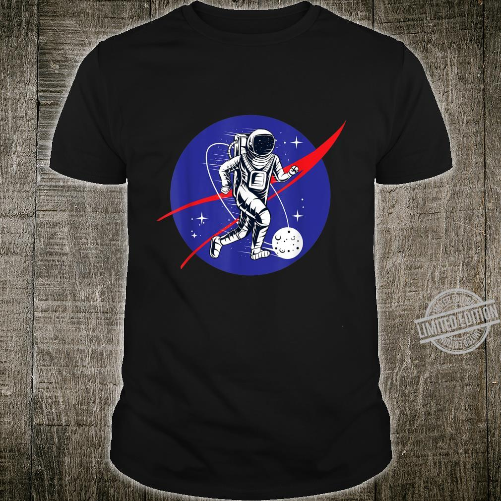 Astronaut Football Soccer Space Moon Galaxy Shirt