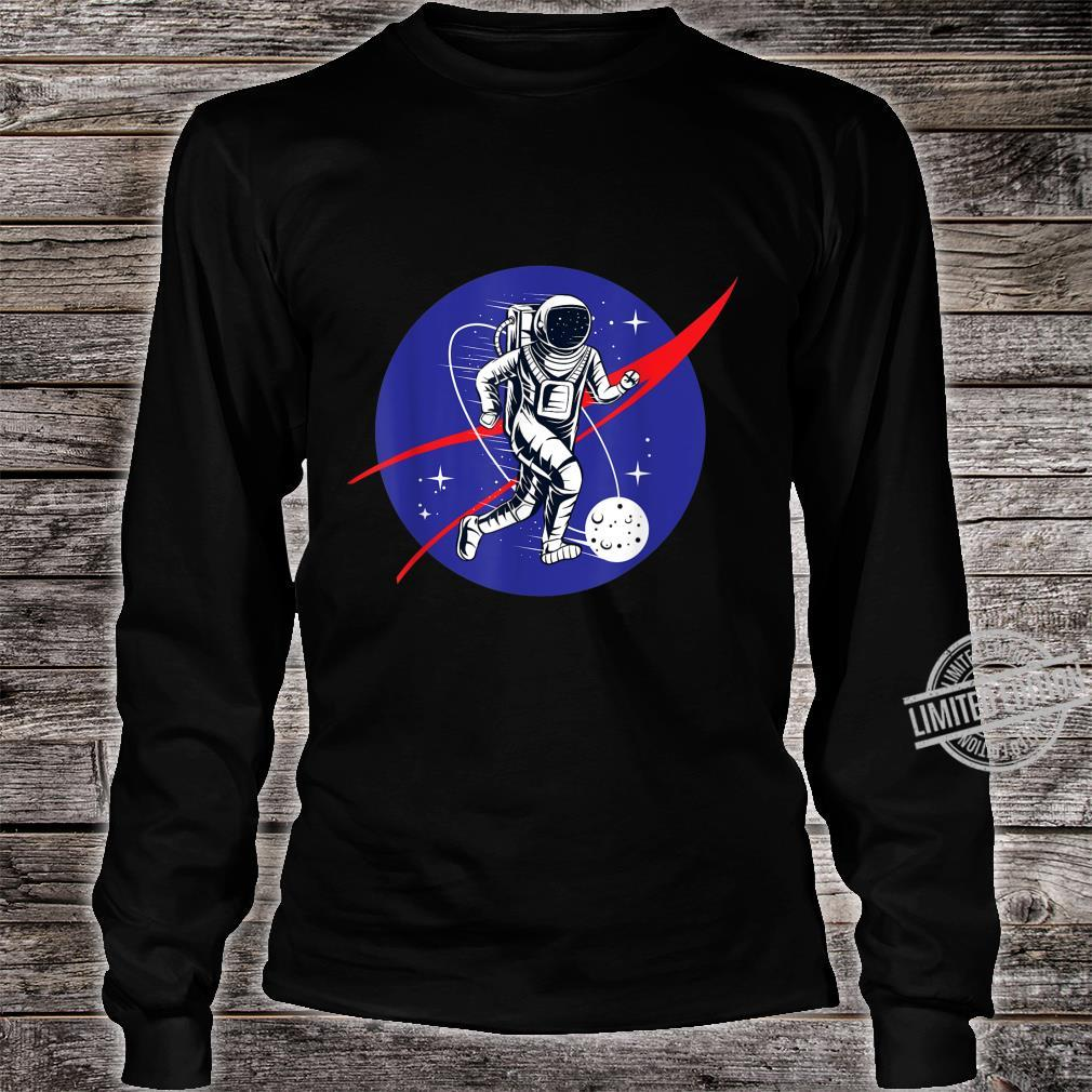 Astronaut Football Soccer Space Moon Galaxy Shirt long sleeved