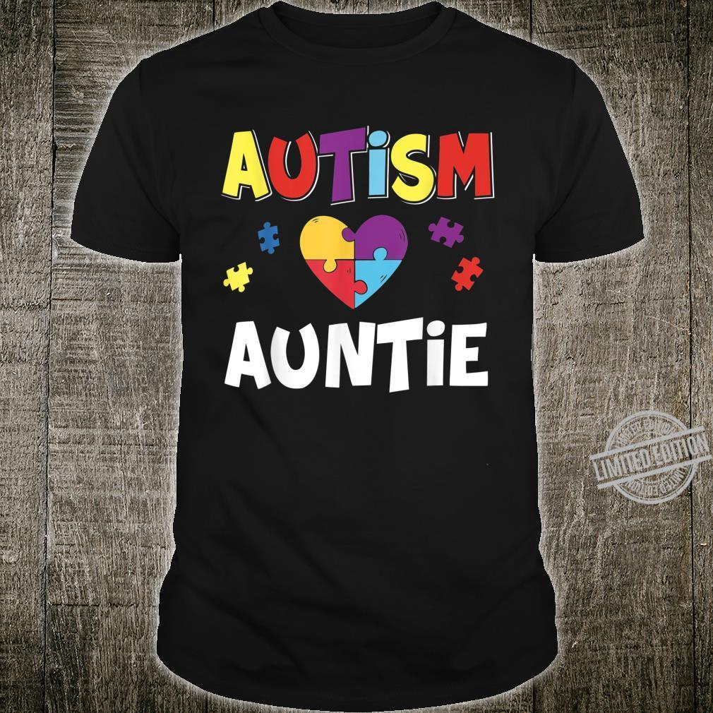 Autism Auntie Awareness Puzzle Shirt
