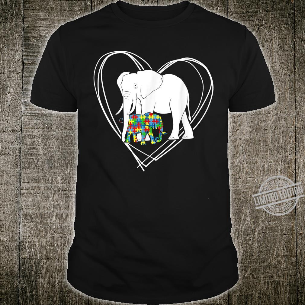 Autism Awareness Elephant Puzzle Pieces Voice For Autism Fun Shirt