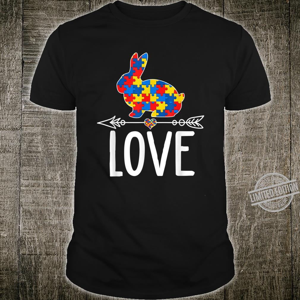 Autism Awareness Rabbit Hearts Love Shirt