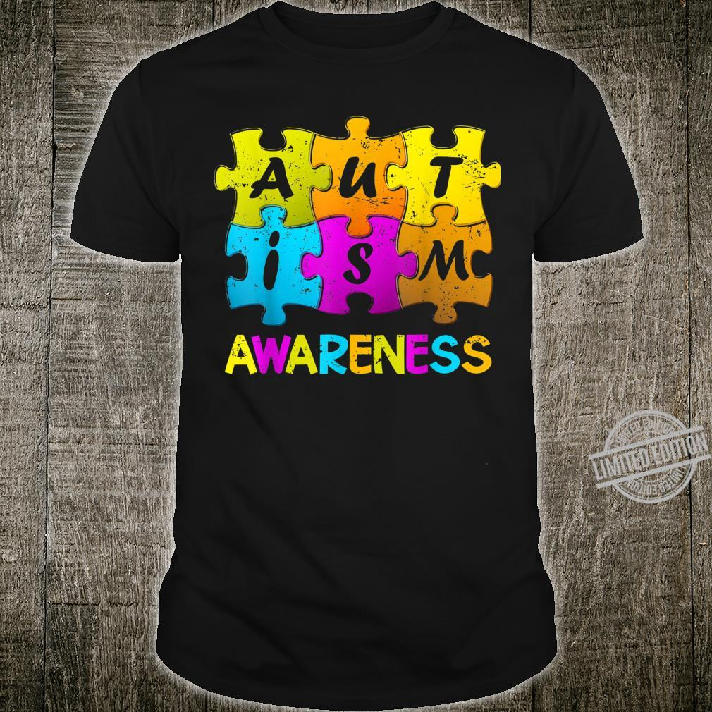 Autism Awareness Support Autism Embrace Difference Puzzles Shirt