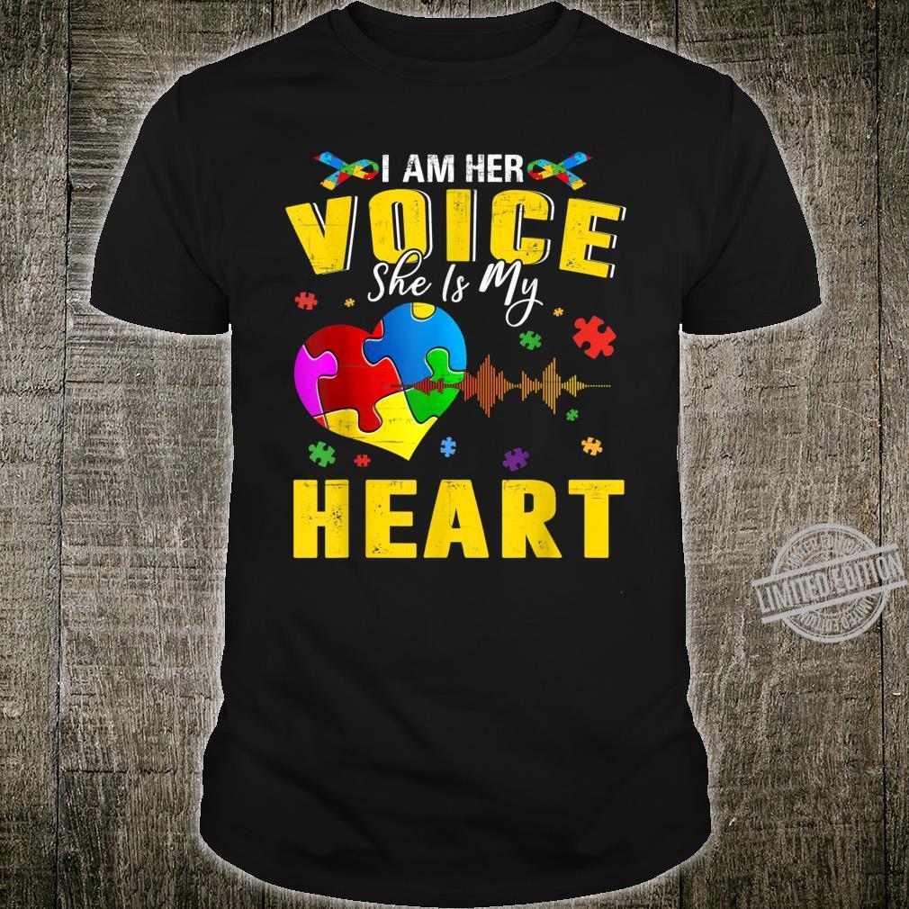 Autism Awareness Voice For Autism Puzzle Pieces Heart Shirt