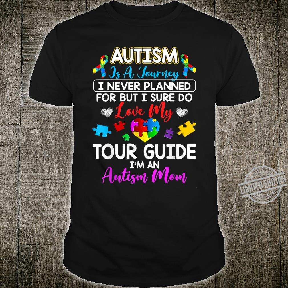 Autism Is Not Planned Journey Autism Awareness Mom Puzzles Shirt