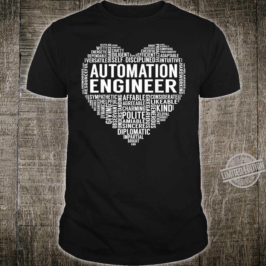 Automation Engineer Heart Shirt