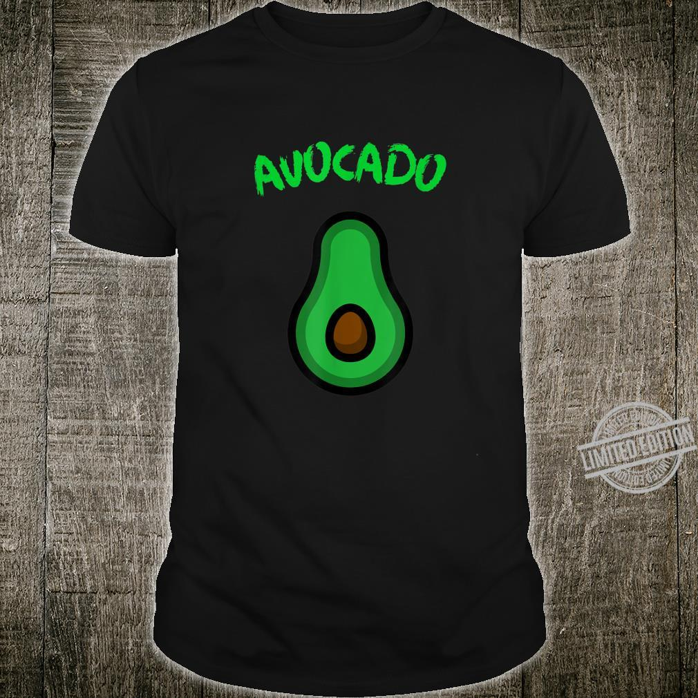 Avocado Fruit food sliced with core in the middle Shirt