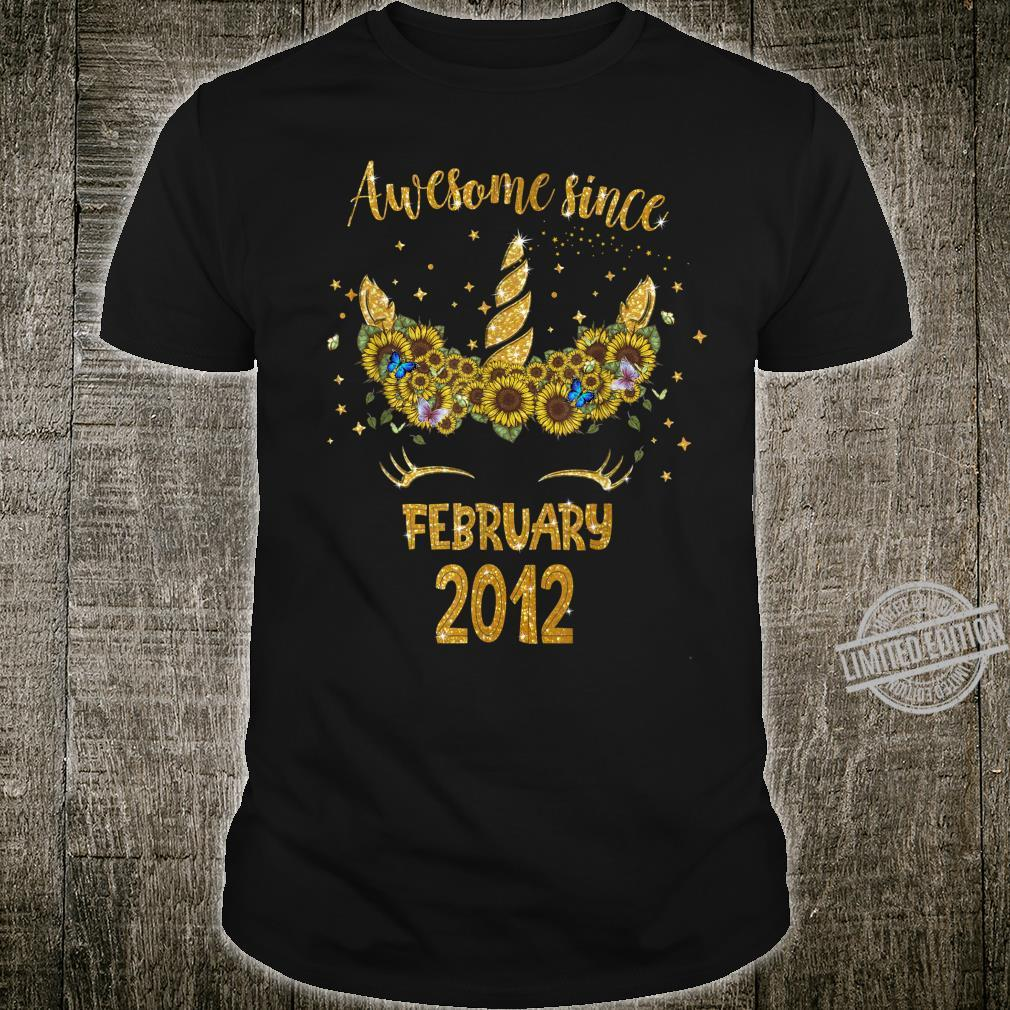 Awesome since February 2012 8th birthday 8 years old girls Shirt