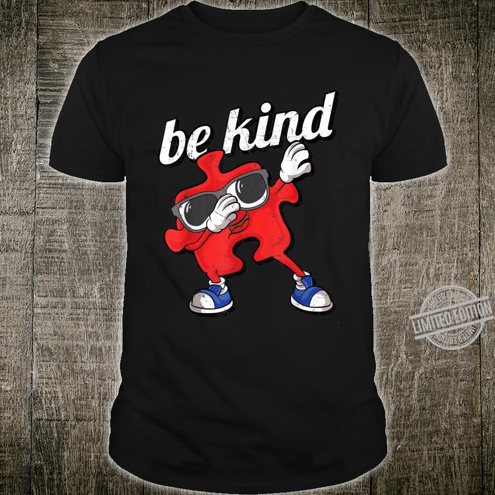 Be Kind Autism Awareness Dabbing Puzzle Piece Boy Shirt