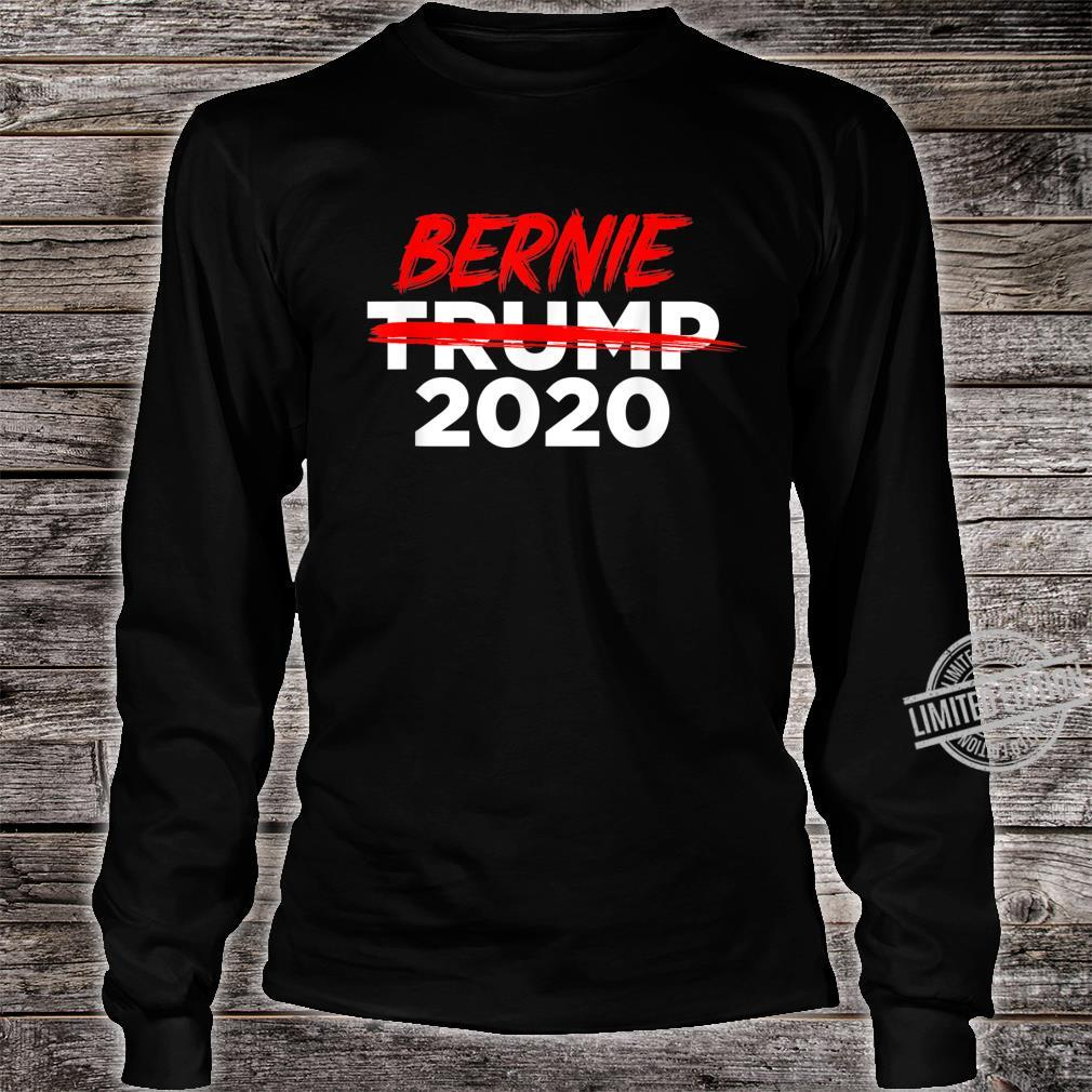 Bernie 2020 AntiTrump Crossed Out Win President Election Shirt long sleeved