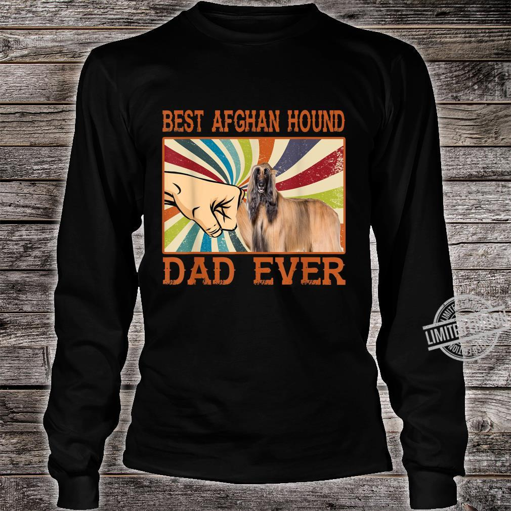 Best Afghan Hound Dad Ever Retro Vintage Shirt long sleeved