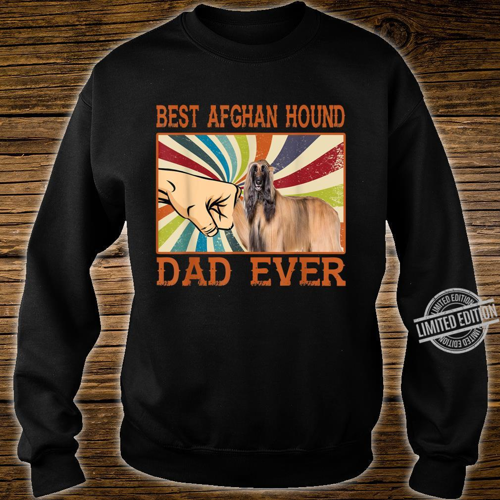Best Afghan Hound Dad Ever Retro Vintage Shirt sweater