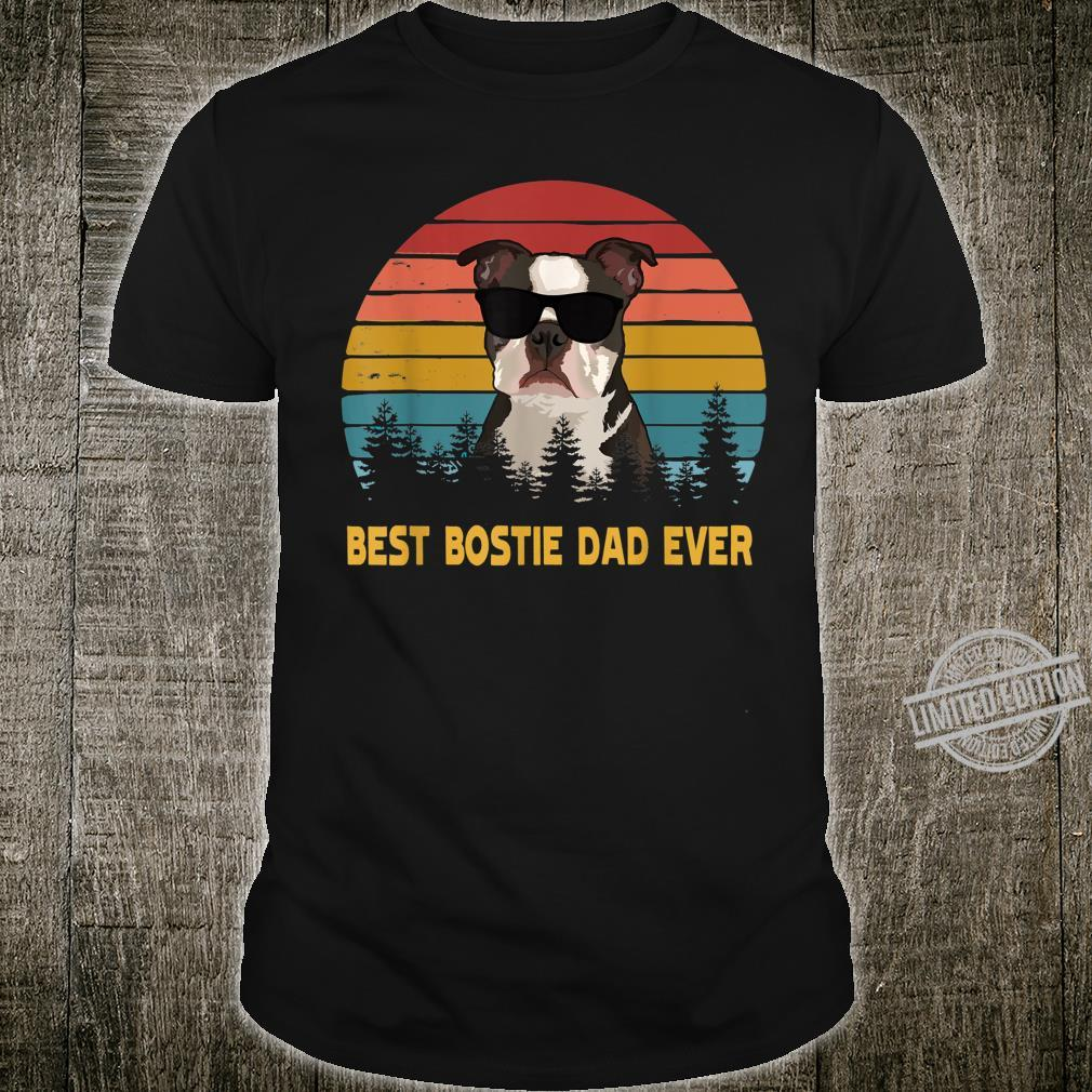 Best Bostie Dad Ever Boston Terrier Dog Father's Day Shirt
