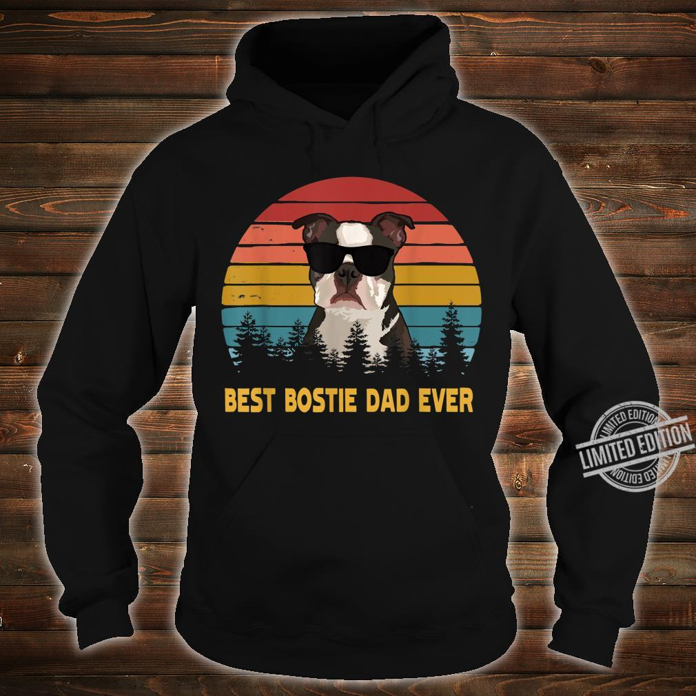 Best Bostie Dad Ever Boston Terrier Dog Father's Day Shirt hoodie
