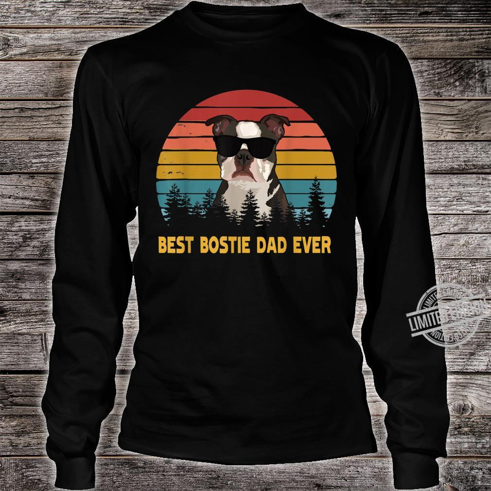 Best Bostie Dad Ever Boston Terrier Dog Father's Day Shirt long sleeved