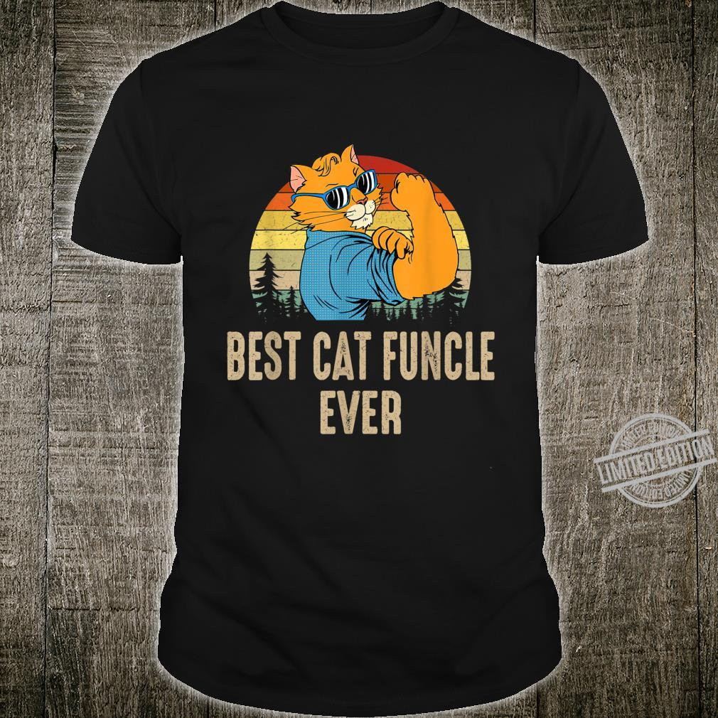 Best Cat Best Cat Funcle Ever Cat Dad Father's Day Shirt