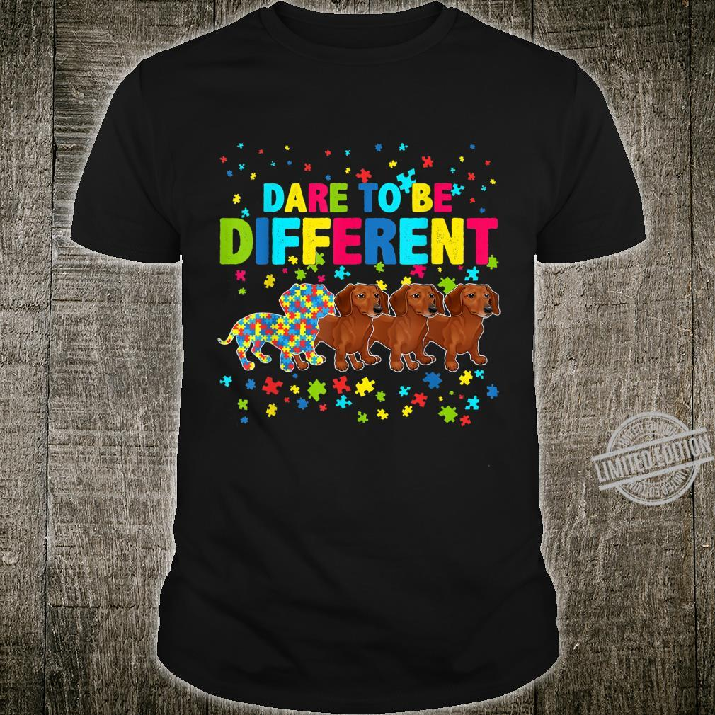 Best Dachshund Dog Dad Mom Ever Autism Awareness Shirt