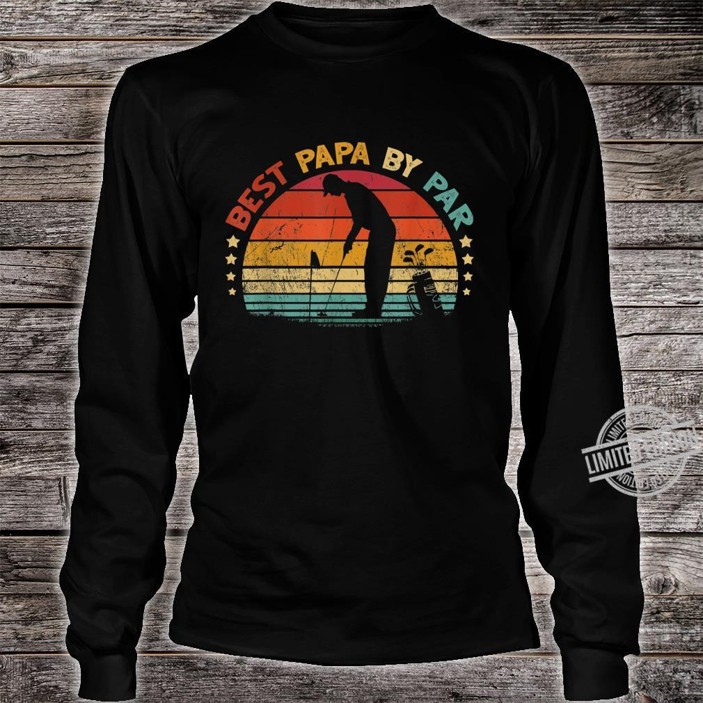 Best Papa By Par Father's Day Golf Shirt long sleeved