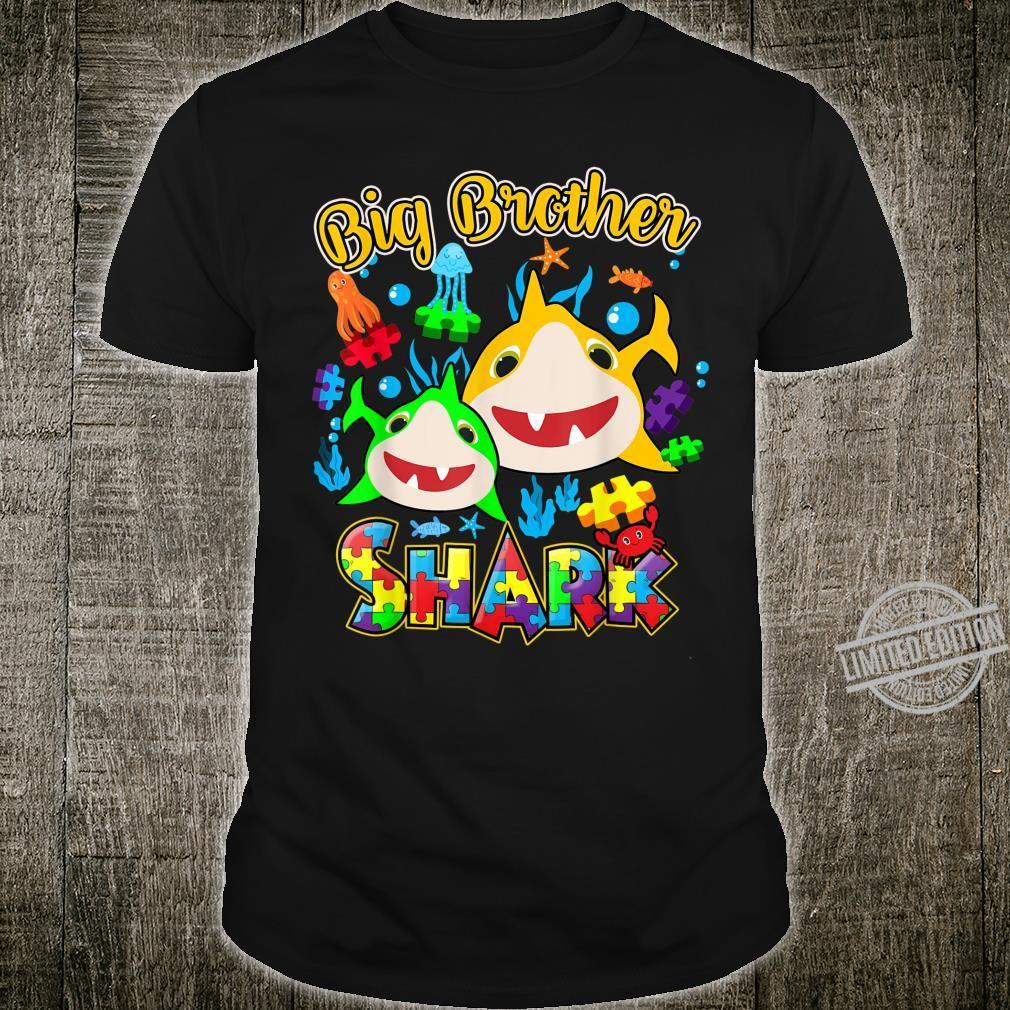 Big Brother Of The Baby Shark Austim Awareness Shirt