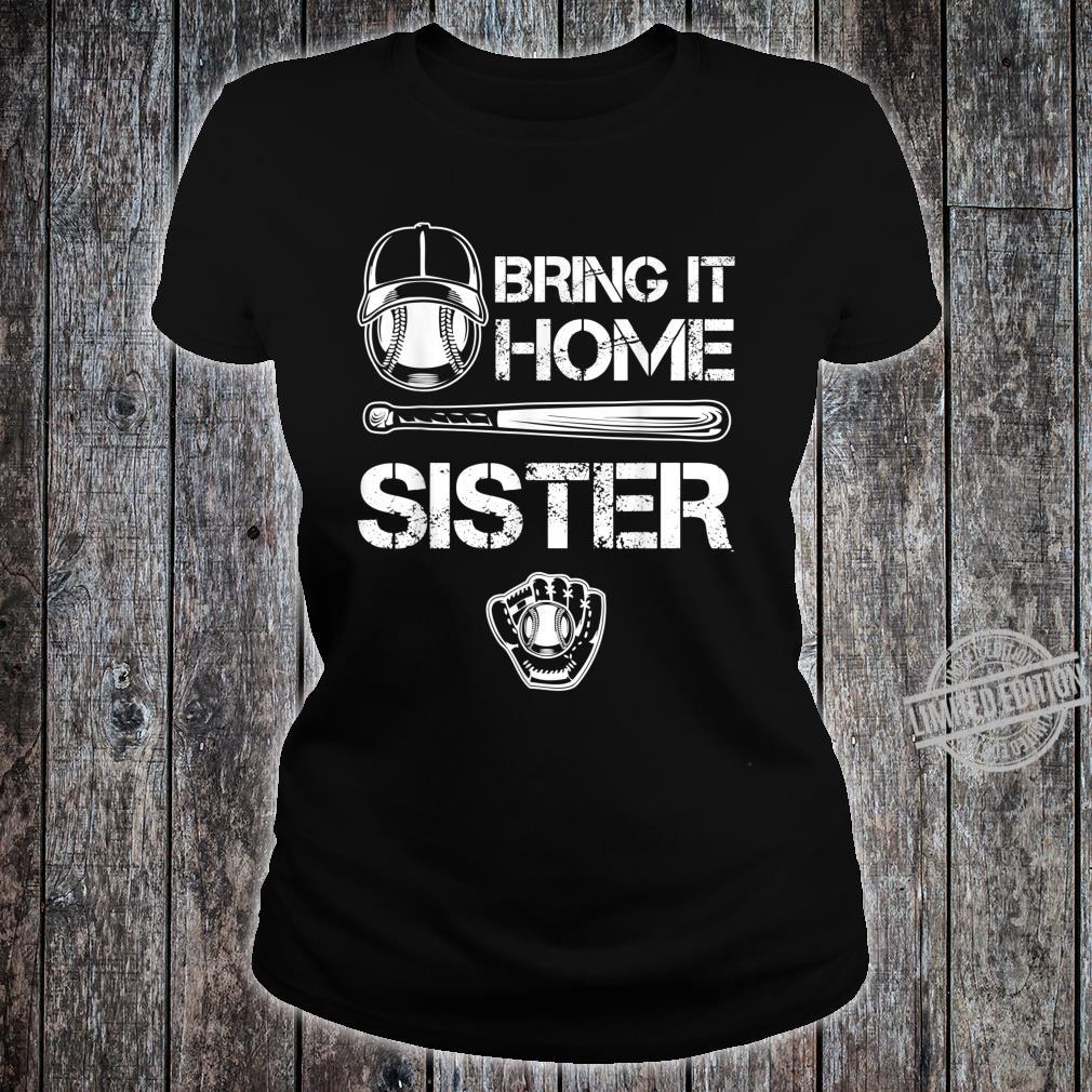 Big and little Sister Baseball Player Sis Catcher Pitcher Shirt ladies tee
