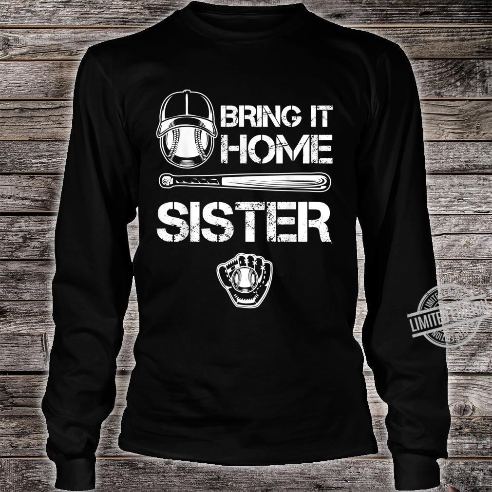 Big and little Sister Baseball Player Sis Catcher Pitcher Shirt long sleeved