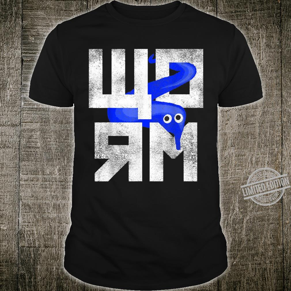 Blue Worm On A String Meme Retro Style Shirt