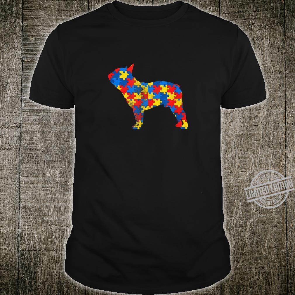 Boston Terrier Dog Autism Awareness Shirt