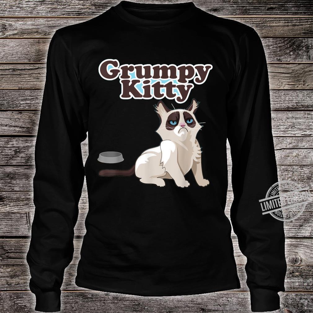 CUTE GRUMPY KITTY CAT Sweats Shirt long sleeved