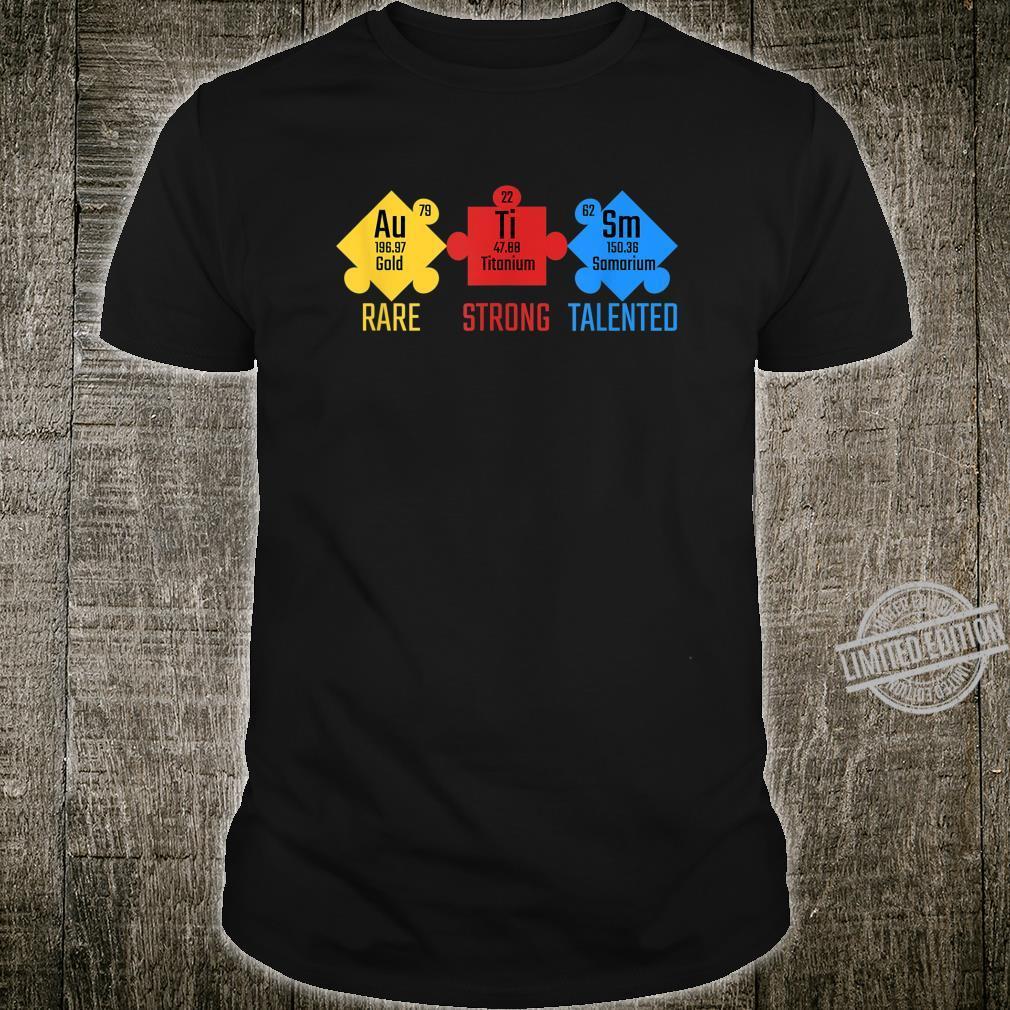 Chemical Element Autism Awareness Puzzle Piece Teacher Shirt