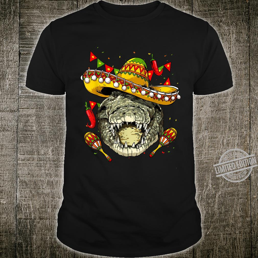 Cinco de Mayo Crocodile Mexican Sombrero Crocodile Shirt