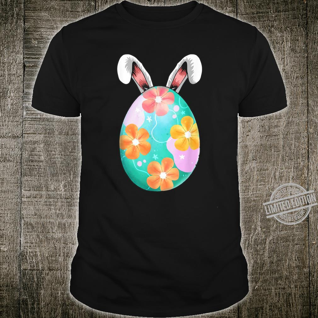 Cute Floral Egg Rabbit Easter and Girls Shirt