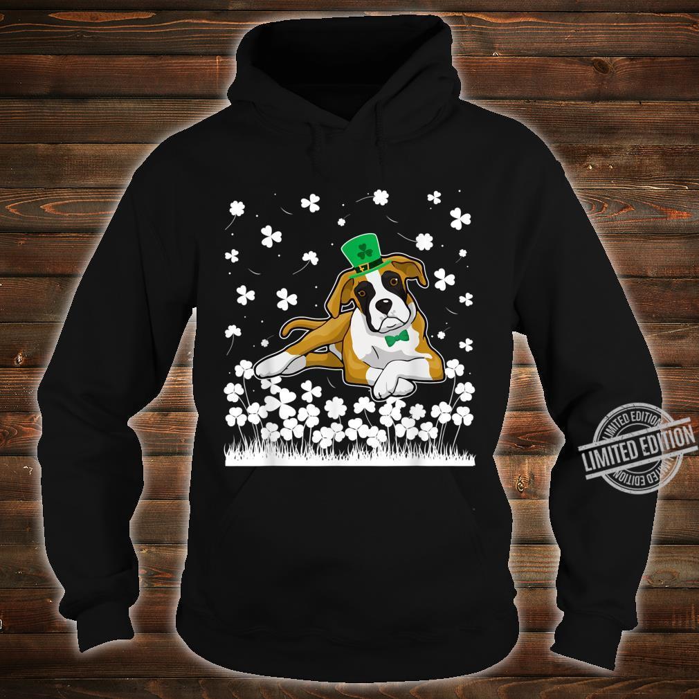 Cute Shamrock Boxer Dog Mom Dad St Patricks Day Irish Shirt hoodie