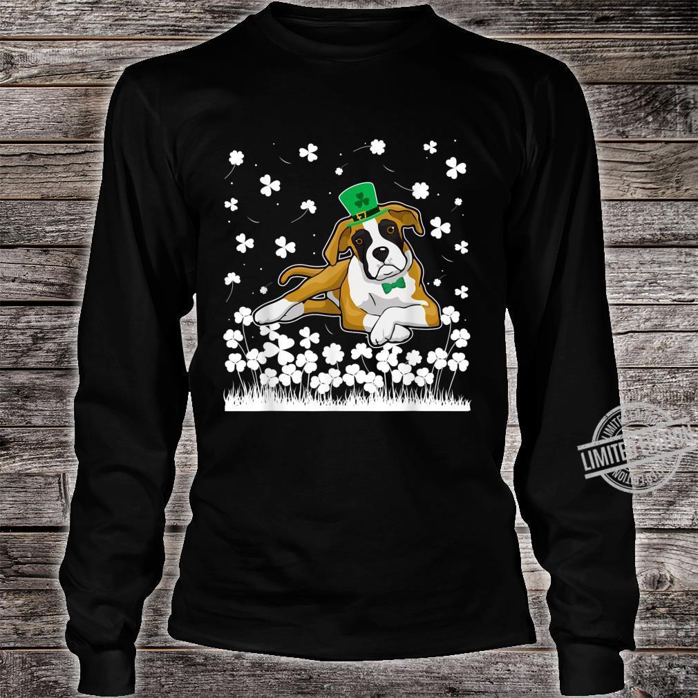 Cute Shamrock Boxer Dog Mom Dad St Patricks Day Irish Shirt long sleeved