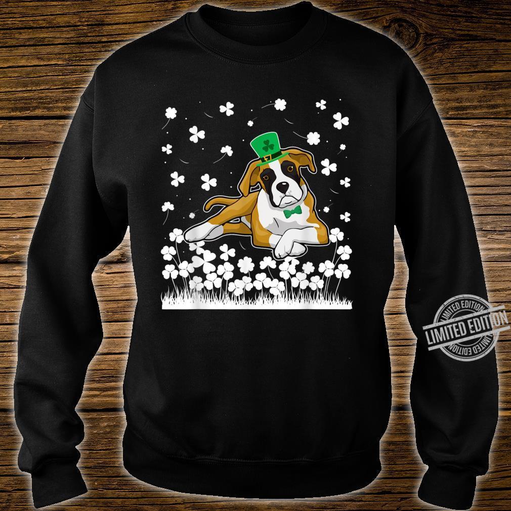 Cute Shamrock Boxer Dog Mom Dad St Patricks Day Irish Shirt sweater