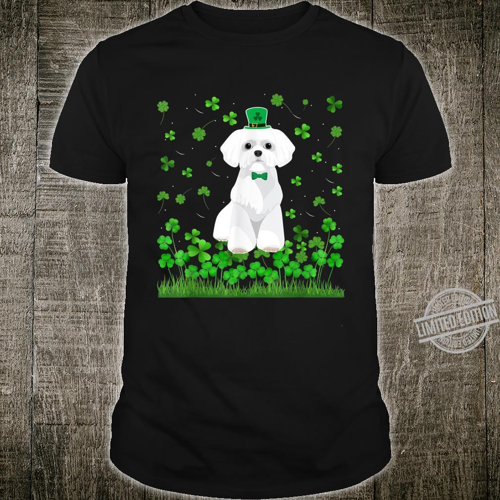 Cute Shamrock Maltese Dog Mom Dad St Patricks Day Irish Shirt